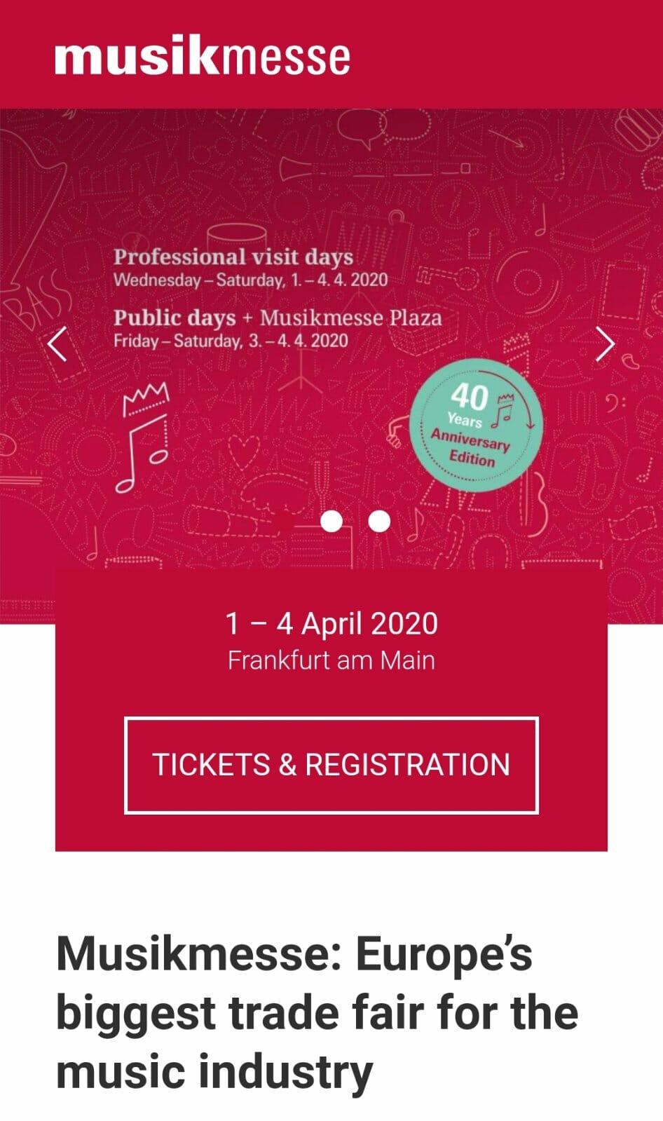 Ανδρέας Μαδημένος στην Musikmesse Frankfurt 1 – 4 Απριλίου 2020